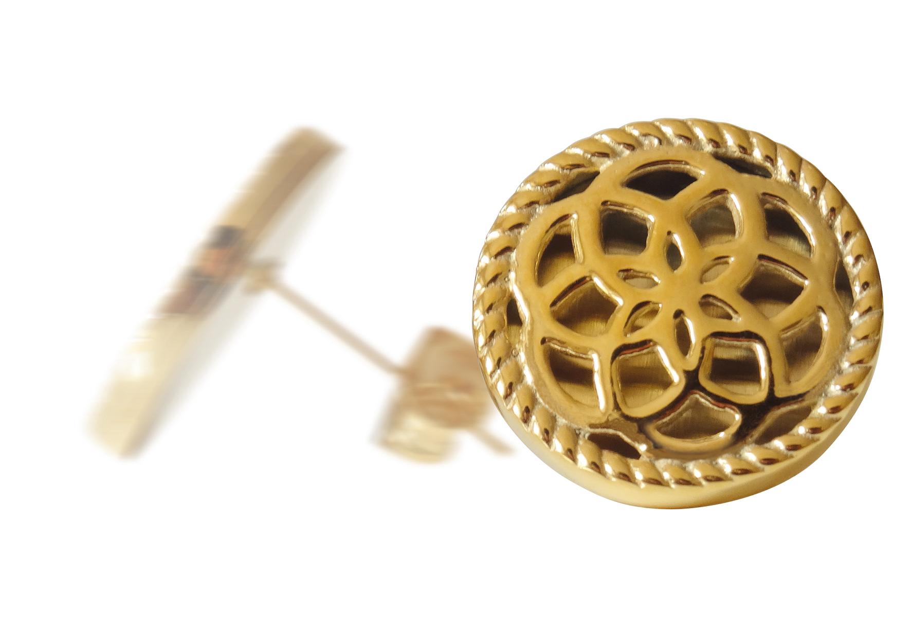 Ohrstecker gold  2 Traumfänger Ohrring (Ohrstecker) gold (Blume), Ohrstecker ...