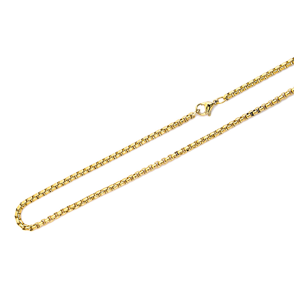 Traumfänger Kugelkette 3 mm 80 cm Gold