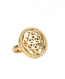 Traumfänger Ring gold (Blume)