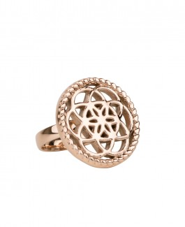 Traumfänger Ring rosé-gold (Blume)