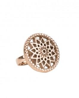 Traumfänger Ring rosé-gold (Stern)