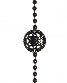 Traumfänger Armband schwarz (Blume, Kette & Feder schwarz)