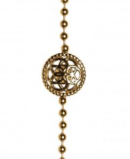 Traumfänger Armband Gold (Blume, Kette & Feder gold)
