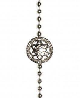 Traumfänger Armband Stahl (Blume, Kette & Feder stahl)
