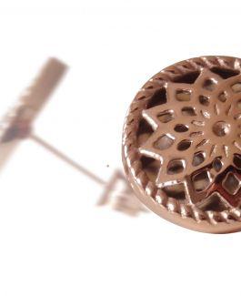 2 Traumfänger Ohrring (Ohrstecker) roségold (Stern)