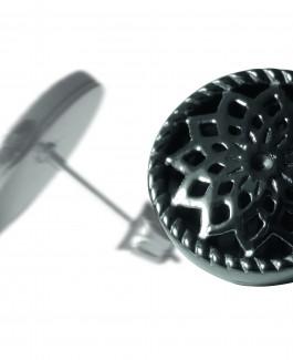 2 Traumfänger Ohrring (Ohrstecker) schwarz (Stern)