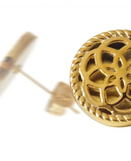 2 Traumfänger Ohrring (Ohrstecker) gold (Blume)
